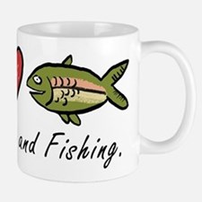Peace, Love, Fishing Mug