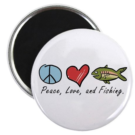 Peace, Love, Fishing Magnet