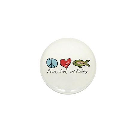 Peace, Love, Fishing Mini Button (10 pack)