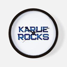 karlie rocks Wall Clock