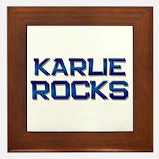 karlie rocks Framed Tile