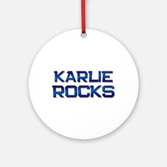 karlie rocks Ornament (Round)