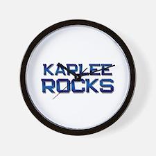 karlee rocks Wall Clock