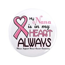 "In My Heart 2 (Nana) PINK 3.5"" Button"