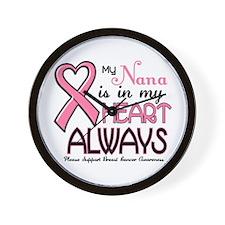In My Heart 2 (Nana) PINK Wall Clock