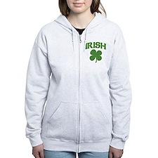 Irish Shamrock Zip Hoodie