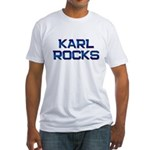karl rocks Fitted T-Shirt