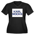 karl rocks Women's Plus Size V-Neck Dark T-Shirt