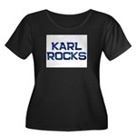 karl rocks Women's Plus Size Scoop Neck Dark T-Shi