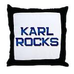 karl rocks Throw Pillow