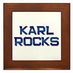 karl rocks Framed Tile