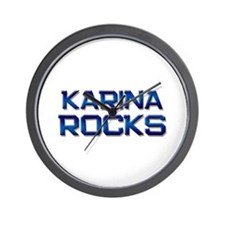 karina rocks Wall Clock