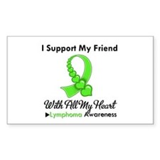 Lymphoma Support Friend Rectangle Decal