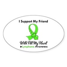Lymphoma Support Friend Oval Decal