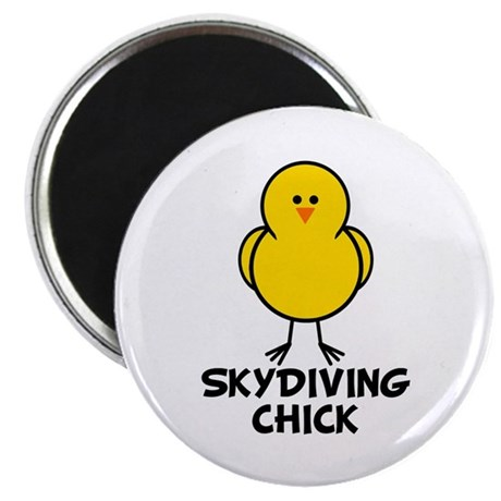 Skydiving Chick Magnet