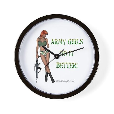 Army Girls.. Wall Clock