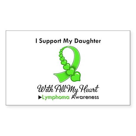 LymphomaSupportDaughter Rectangle Sticker