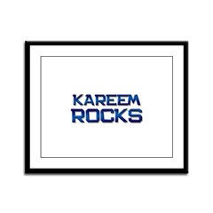 kareem rocks Framed Panel Print