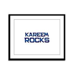 kareem rocks Framed Panel Print