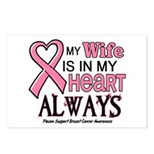 In My Heart 2 (Wife) PINK Postcards (Package of 8)
