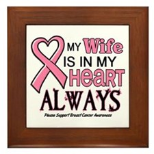In My Heart 2 (Wife) PINK Framed Tile
