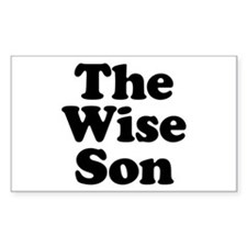 The Wise Son Rectangle Decal