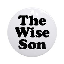 The Wise Son Ornament (Round)