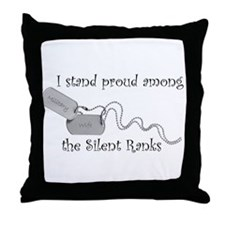 Silent Ranks Throw Pillow