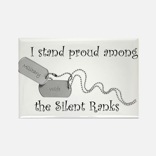 Silent Ranks Rectangle Magnet
