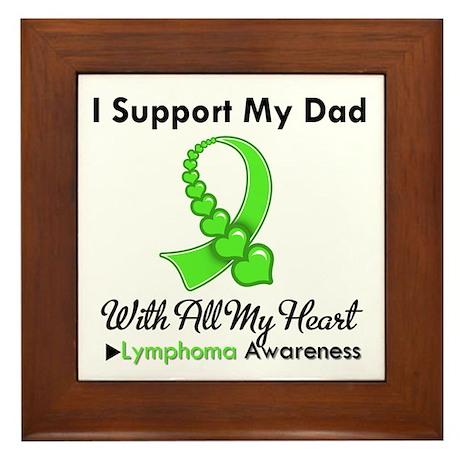 Lymphoma Support Dad Framed Tile