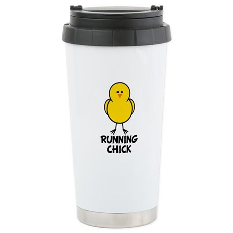 Running Chick Stainless Steel Travel Mug