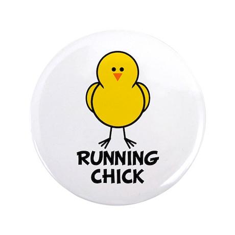 "Running Chick 3.5"" Button"