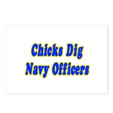 """Chicks Dig Navy Officers"" Postcards (Package of 8"