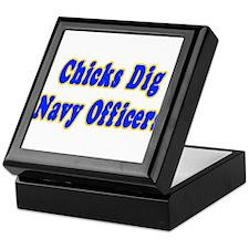"""""""Chicks Dig Navy Officers"""" Keepsake Box"""