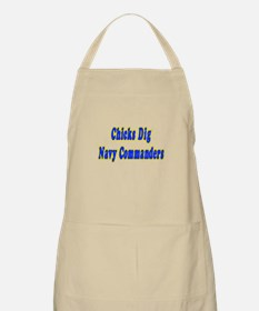 """Chicks Dig Navy Commanders"" BBQ Apron"