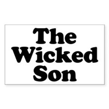The Wicked Son Rectangle Decal