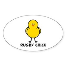Rugby Chick Oval Decal