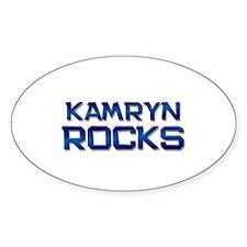 kamryn rocks Oval Decal