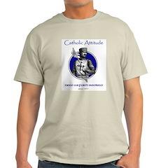 Catholic Attitude Knight Ash Grey T-Shirt