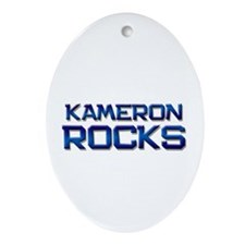 kameron rocks Oval Ornament