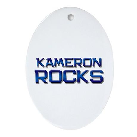 kameron rocks Oval Ornament