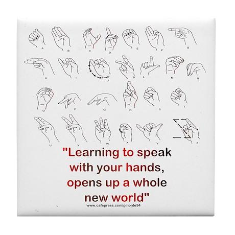 Sign Language Tile Coaster