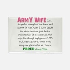 I Am...an Army Wife Rectangle Magnet