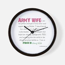 I Am...an Army Wife Wall Clock