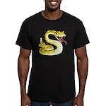 Rattlesnake Snake Tattoo Art Men's Fitted T-Shirt