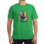 Flying Maiden Mermaid Tattoo Men's Fitted T-Shirt