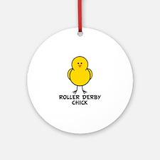 Roller Derby Chick Ornament (Round)