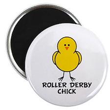 """Roller Derby Chick 2.25"""" Magnet (10 pack)"""