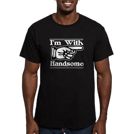 Handsome Left Men's Fitted T-Shirt (dark)