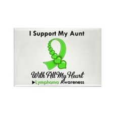 Lymphoma Support Aunt Rectangle Magnet